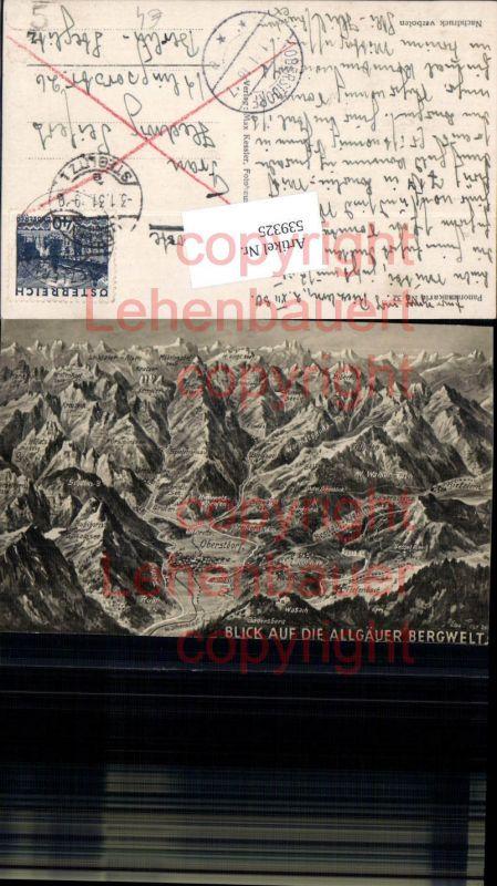 Künstler AK Eugen Felle Isny Vogelschau Oberstdorf Tiefenbach Wasach grub