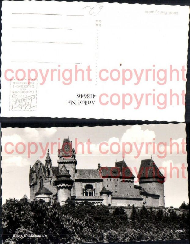 Foto Ak Burg Kreuzenstein Leobendorf