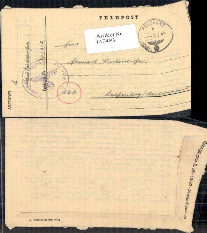 WW2 WK2 Feldpost nach Helfenberg Hinterdorfer Dienststelle 30131 E