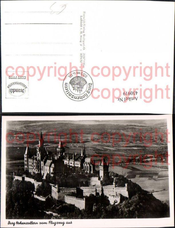 Luftbild Burg Hohenzollern Bisingen