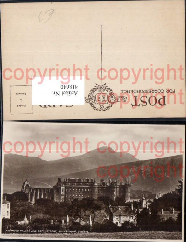 Holyrood Palace and Arthur Seat Edinburgh Schloss Burg