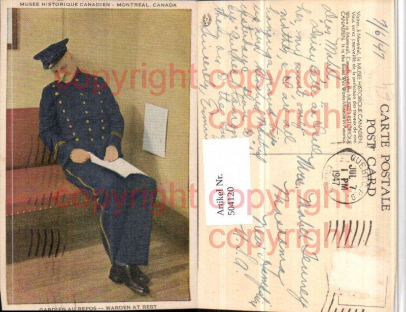 Montreal Musee Historique Gardien au Repos Polizei Wächter
