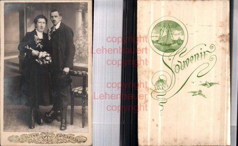 CDV Kabinettfoto Atelier Cabinet Braut Hochzeit Mann Frau