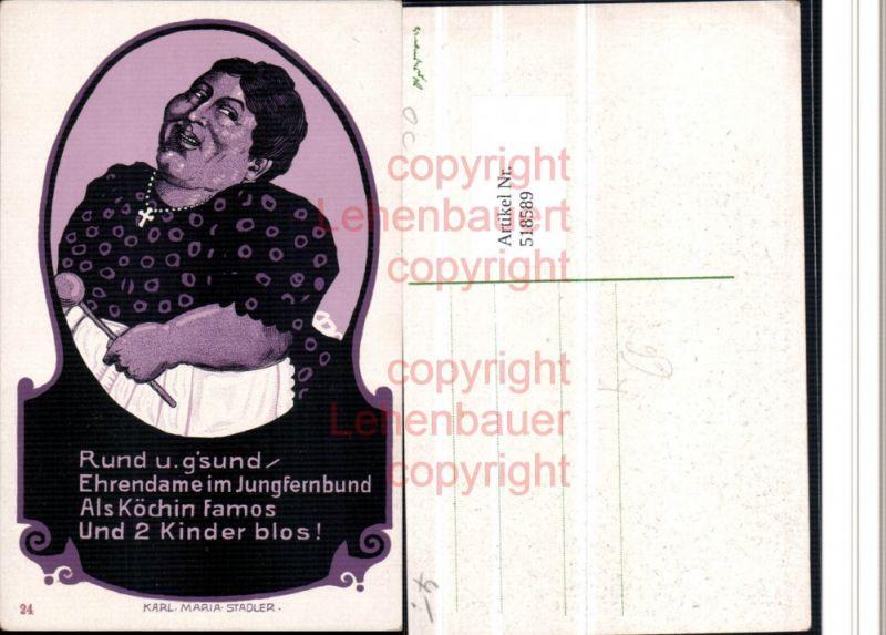 Künstler AK Karl Maria Stadler Jungfrau Frauenfeindlicher Humor