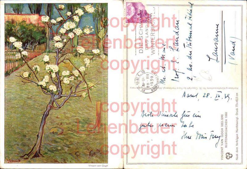 Künstler AK Vincent van Gogh Blütenbäumchen 1888