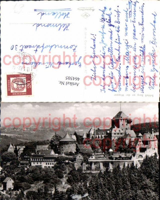 Foto Ak Schloss Burg an der Wupper