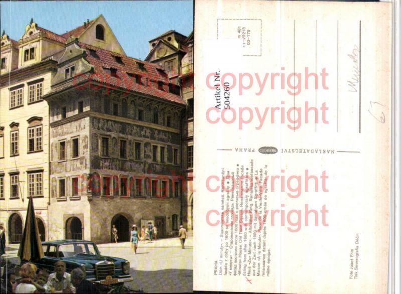 Praha Prag Minute House Auto Mercedes