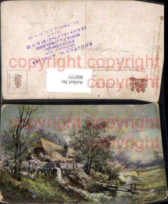 Künstler Ak Wayside Sketches Wassermühle Mühle pub Raphael Tuck 9000