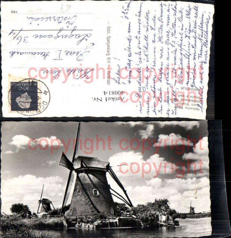 Windmühle Dutch Windmill Holländische Mühle Kinderdijk