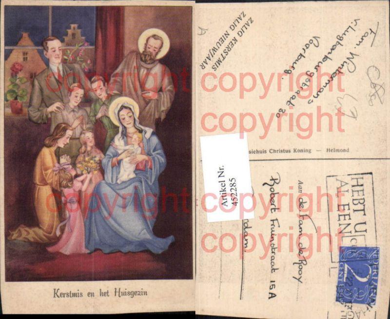 Künstler AK Weihnachten Heilige Familie Personen