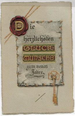 TOP Präge Karte Glückwünsche Neuen Jahre 1911