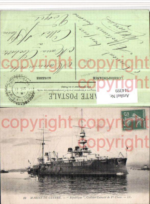 Marine de Guerre Republique Croiseur Cuirasse Kriegsmarine Kriegsschiff