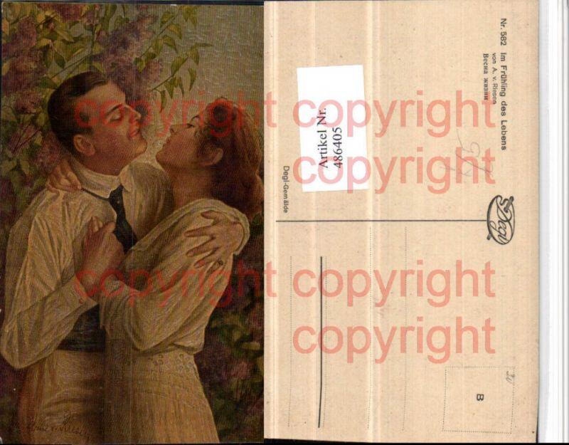 Degi AK 582 Künstler A.v. Riesen Frühling des Lebens Liebe Paar