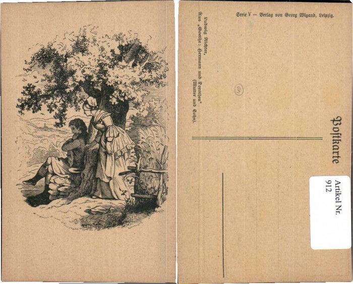 912;Ludwig Richter Goethe Hermann Dorothea