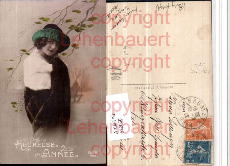 Heureuse Annee Pelzmode Frau Hut pub REX 1488