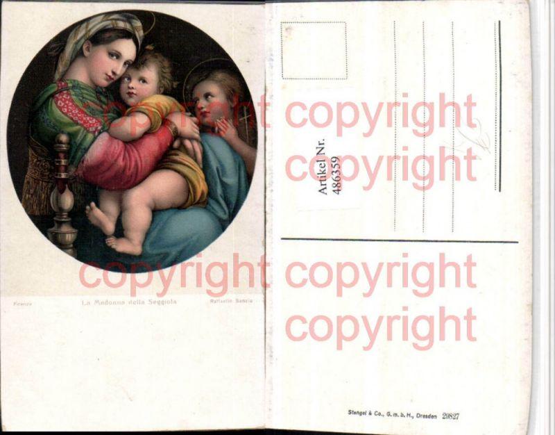 Stengel Co 29827 Künstler Raffaello Sanzio Madonna della Seggiola