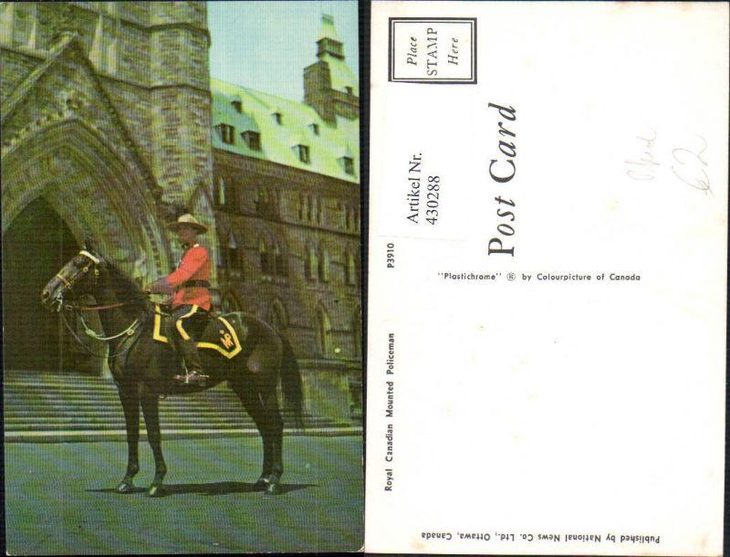 Royal Canadian Mounted Policeman Polizei Pferd Uniform