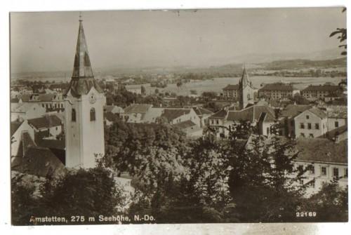 14100;Amstetten Ansicht zur Kirche 1941