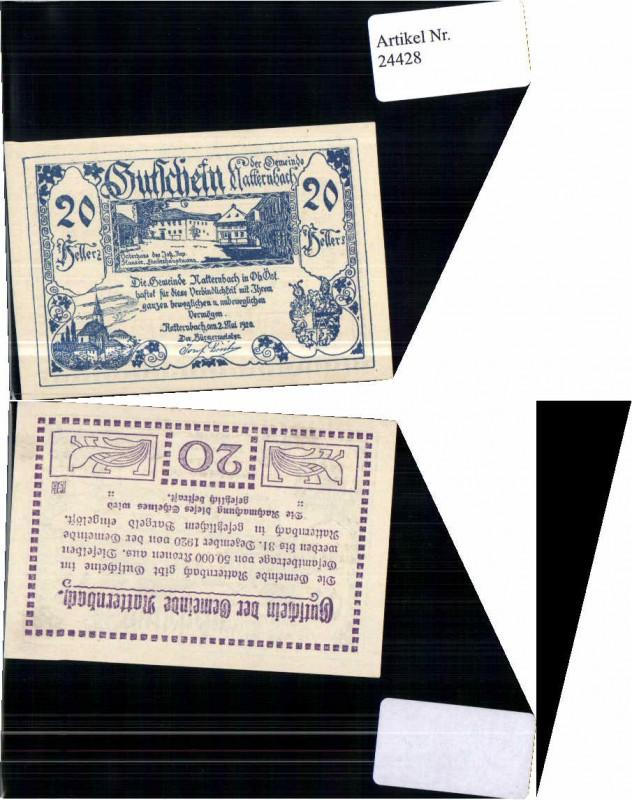 24428;Notgeld Natternbach 20 Heller