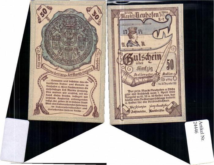 24446;Notgeld Neuhofen a.d. Ybbs 50 Heller