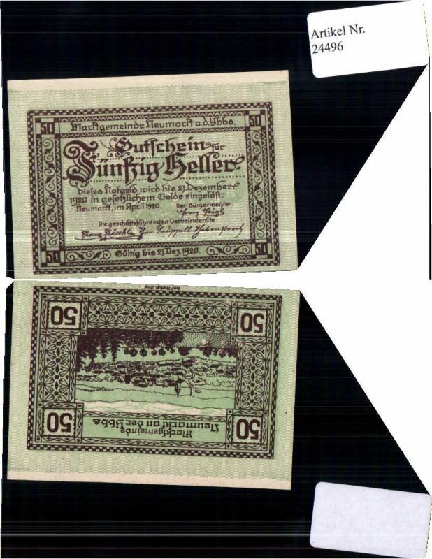 24496;Notgeld Neumarkt a.d. Ybbs 50 Heller