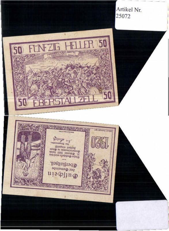 25072;Notgeld Eberstallzell 50 Heller