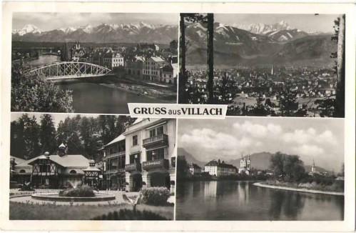 21192;Gruss aus Villach Mehrbild AK