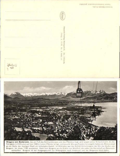 36088;Bregenz am Bodensee Pfänderbahn 1930