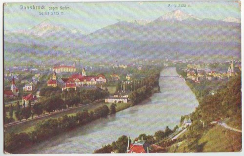 33896;Innsbruck gegen Süden COLOR 1905