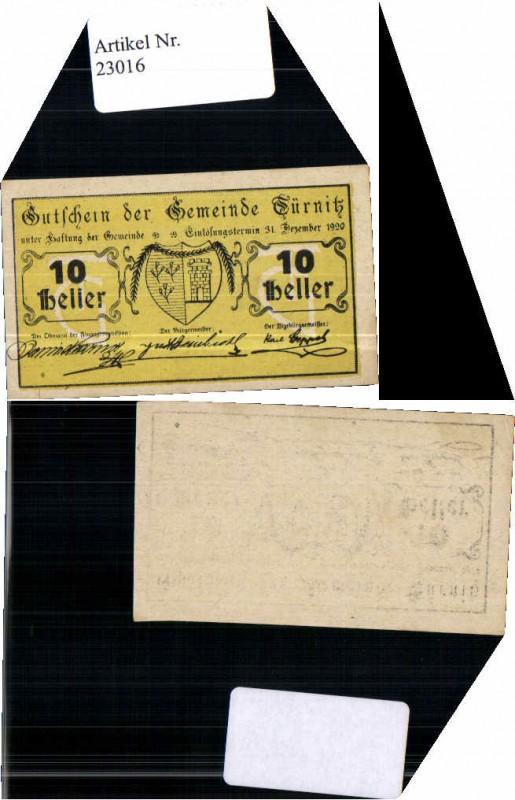 23016;Notgeld Türnitz 10 Heller