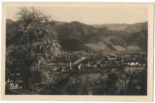 28324;Leoben Ortsansicht um 1925