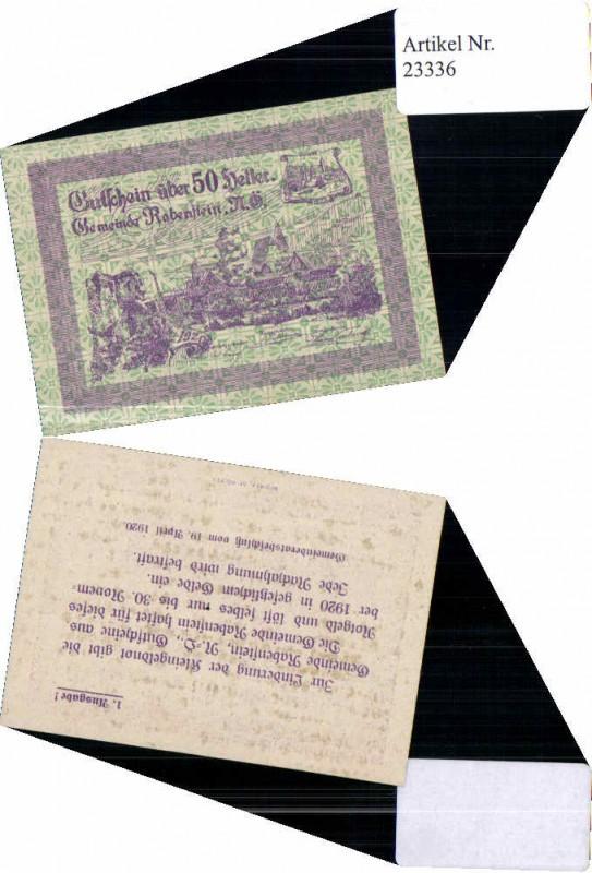 23336;Notgeld Rabenstein Pielach 50 Heller 1. Ausgabe