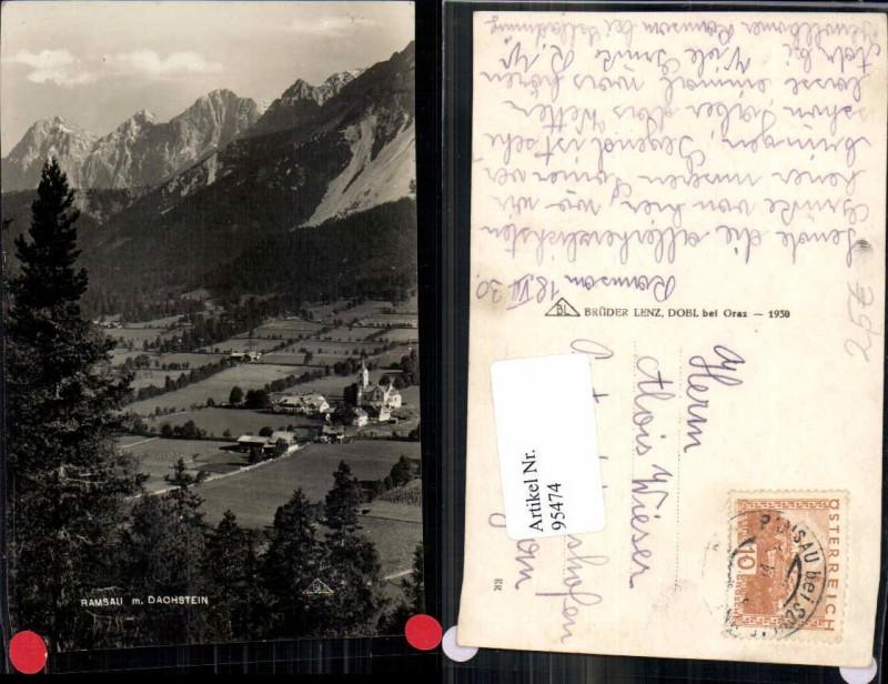 95474;Ramsau b. Schladming pub Lenz 1930