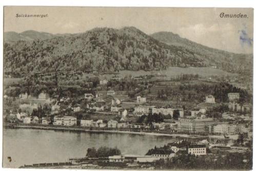 12367;Gmunden Ortsansicht 1908 Brandt