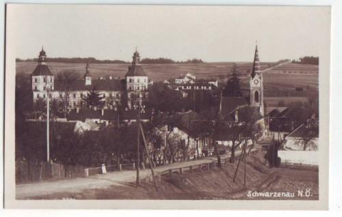 33420;Schwarzenau Partie am Ortsrand 1928