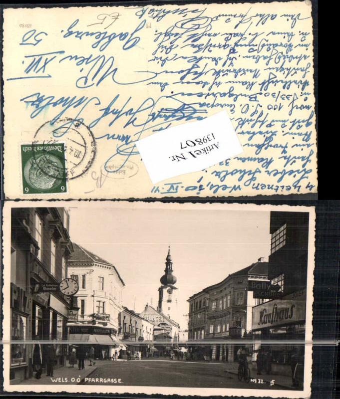 Wels Stadt Pfarrgasse Strassenansicht 1940