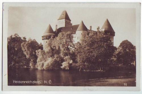 33423;Heidenreichstein Schloss 1930