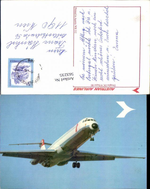 Luftfahrt Aviatik Flugzeug Flieger Douglas DC-9 Super 80 Austrian Airline
