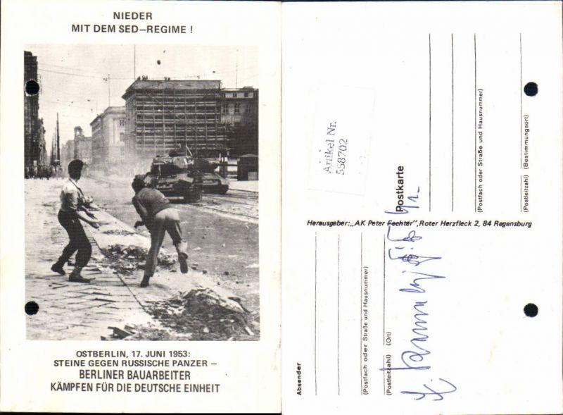 Politik SED Regime DDR Panzer Ostberlin Berlin 1953 Ostalgie