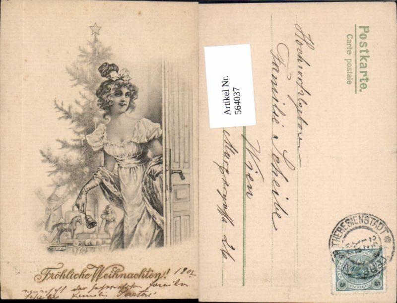 tolle Künstler AK Jugendstil Weihnachten Weihnachtsbaum Geschenke ...