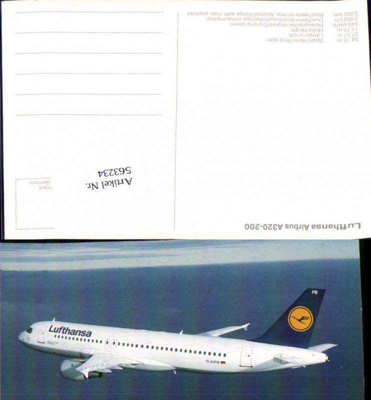 Luftfahrt Aviatik Flugzeug Flieger Lufthansa Airbus A320-200