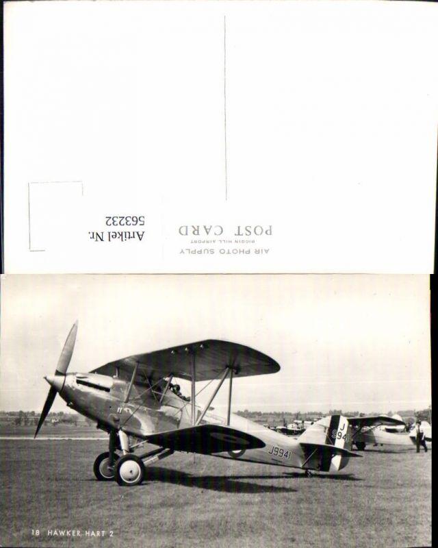 Luftfahrt Aviatik Flugzeug Flieger Hawker Hart 2