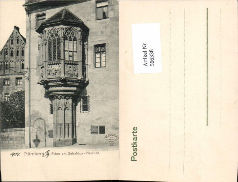 Nürnberg Erker am Sebaldus Hof  pub Wilhelm Hoffmann 2251