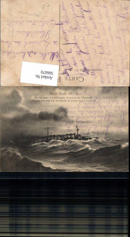 Kriegsschiff Schiff Guerre Navale WW1 Diderot Kriegsmarine