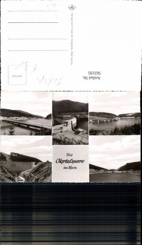 Mehrbild Ak Altenau Okertalsperre i. Harz Talsperre
