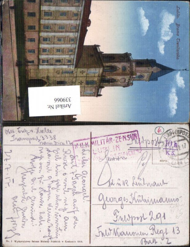 K.k. Feldpost Militär-Zensur Lublin
