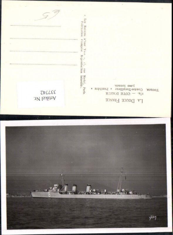 Foto Ak Schiff Kriegsschiff Marine Cote d Azur Toulon Contre Torpilleur P