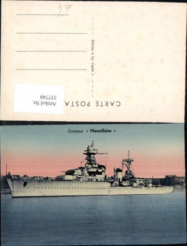 Schiff Kriegsschiff Marine Croiseur Marseillaise