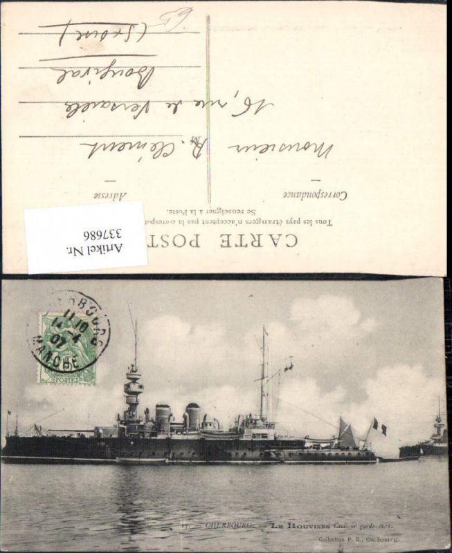 Schiff Kriegsschiff Marine Cherbourg Le Bouvines Croiseur garde cotes