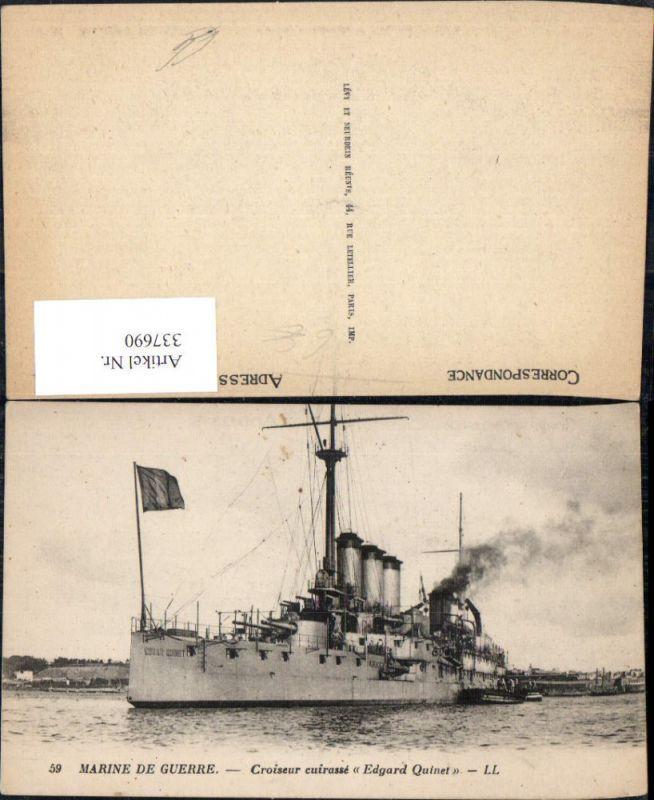 Schiff Kriegsschiff Marine Marine de Guerre Croiseur cuirasse Edgard Quin